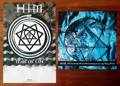 HIM Tears on Tape | XX: Two Decades Of Love Metal Posters Lot +FREE Rock Poster!