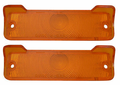 1965 Nova Chevy II Parking Light Lens with Gaskets Pair Amber