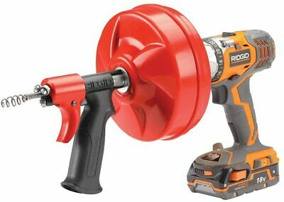 Ridgid Gidds-813340 41408 Power Spin With Autofeed Maxcore Drain Cleaner Cable
