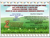 Yew Tree Family Fun Day and Dog Show In Aid of Birmingham Children's Hospital