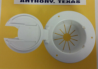 Electric Cable Hatch - RV - Camper Electric WHITE POWER CORD CABLE HATCH 30 or 50 AMP cord
