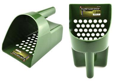 Tough Durable Green Plastic Metal Detector Scoop Beach-Sand-Gold-Treasure-Rings