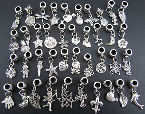 40PCS-Tibetan-Silver-Nice-Dangle-Beads-Fit-European-Charm-Bracelet-kj692