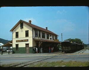 1975 orbisonia train station pennsylvania original 35mm