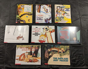 8 Calvin and Hobbs Comic Books, barely used