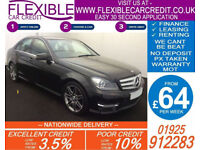 2013 MERCEDES C220 CDI AMG SPORT GOOD / BAD CREDIT CAR FINANCE AVAILABLE