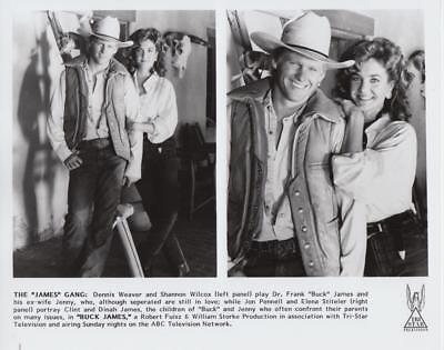 """Dennis Weaver and Shannon Wilcox in """"Buck James"""" Movie Still"""
