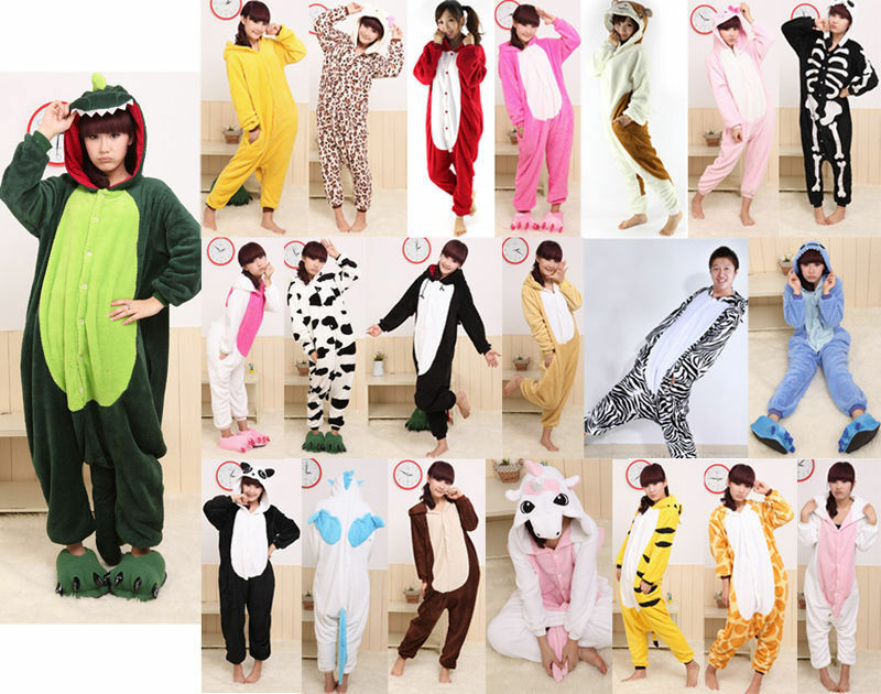 Hot Unisex Adult Pajamas Kigurumi Cosplay Costume Animal Onesie1 Sleepwear Suit