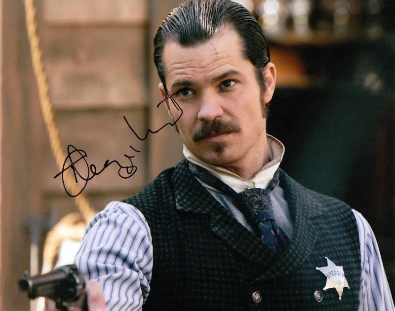 TIMOTHY OLYPHANT.. Deadwood's Seth Bullock (Western) SIGNED