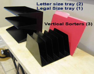 File desk trays and sorters
