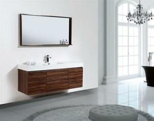 Wall Or Floor Mount Modern Bathroom Vanity 5 Finishes 8 Sizes 16