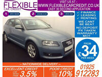 2010 AUDI A3 SPORTBACK 1.8 TFSI SE DSG GOOD / BAD CREDIT CAR FINANCE AVAILABLE