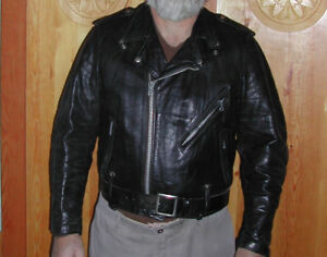 TWO Vintage AMF Leather Jackets