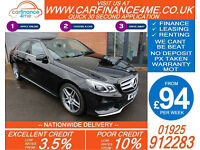 2014 MERCEDES E220 CDI AMG SPORT GOOD / BAD CREDIT CAR FINANCE FROM 94 P/WK