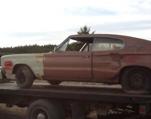 66 & 67 Dodge Chargers for Parts or Rebuild