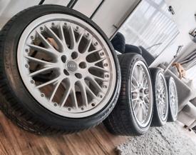 "Genuine 19"" Audi S5 A5 Speedline Wheels and New Tyres"