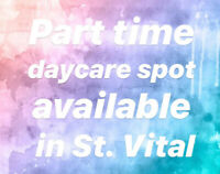 Part time Daycare spot available in St.Vital: Great Price!