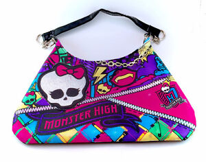 Monster High Skull Glitter Embellished Purse Bag