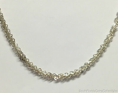 Fancy Heart Link Necklace - Estate Jewelry Fancy 3D Cutout Heart Link Chain Necklace Sterling Silver 20