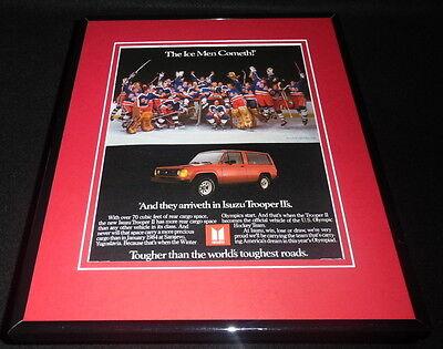 1984 Isuzu / Team USA Hockey Framed 11x14 ORIGINAL Vintage Advertisement