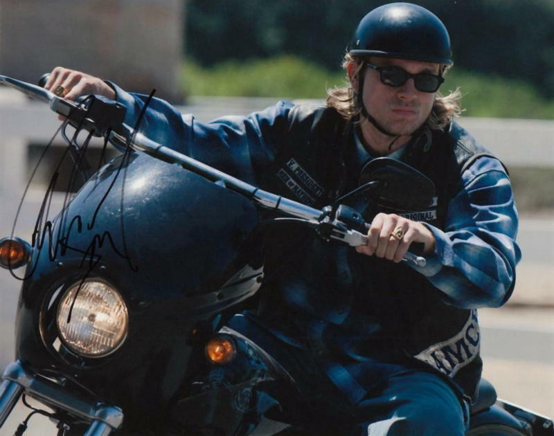 CHARLIE HUNNAM.. Sons of Anarchy Redwood Orig. VP - SIGNED