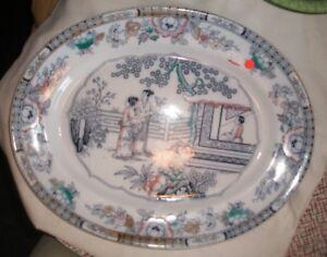 Large Flow Blue Serving Platter