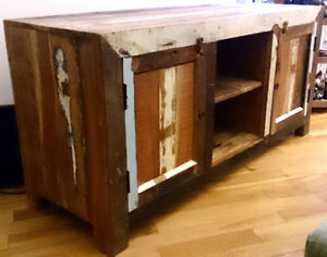 Console - solid, reclaimed mango wood - multi-use