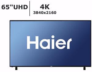 Télévision LED 65'' 65UF2505 4K UHD 60Hz Haier - TAXES INCLUSES!