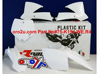 New Racetech Plastic Kit KTM SX 65 02-08 Plastics White Motocross