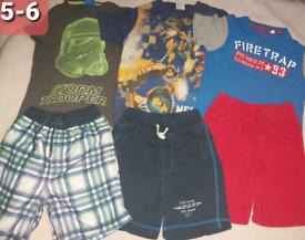 Boys 5-6 summer bundle tshirt shorts star wars fire trap