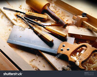 Finish work and small cabinetry jobs by experienced carpenter