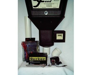 Quick Feed Single Horse Feeder Solar Powered W/Extended Life Bat. - QFSXBSC