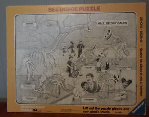 Ravensburger See Inside Dinosaurs 34 Piece Jigsaw Puzzle
