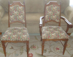 2 MATCHING CHAIRS **details in description below photos**