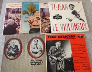 Collection Disque Violoneux Québec 33-78 tours Ti-Jean CARIGAN