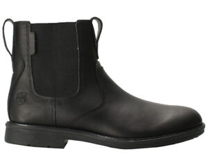 Timberland Men's Cater Notch Chelsea Blk Boots A Size 13-NEW $90