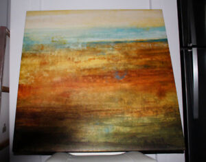 Beautiful abstract painting 34 x 34 inchs