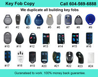 Condo Fob Key Copy Duplication Service