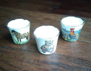 Staffordshire antique eggs cups - $5 each or $10 for all three