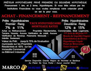 Prêts Hypothécaire 1 Ière ou 2 Ième Rang.