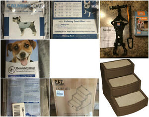 ***NEW*** Dog items - anxiety wraps, steps, harness