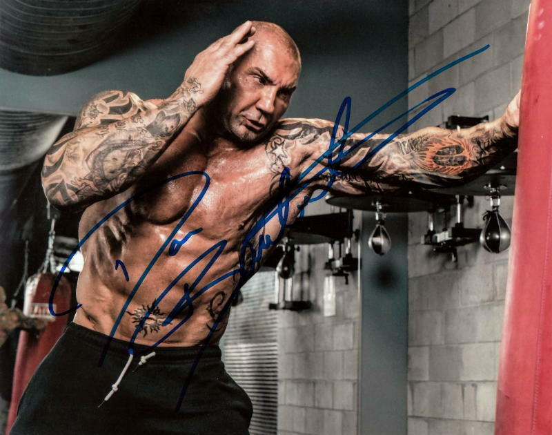 DAVE BAUTISTA.. Hollywood's Newest Action Hero - SIGNED