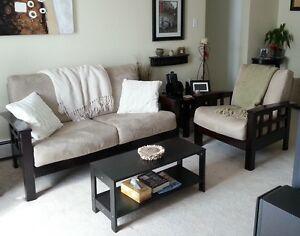 Couch (loveseat) and chair