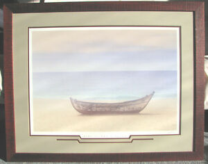 Framed Picture - Boat on Shore