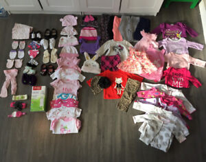 Huge baby girl lot clothes