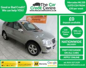 SILVER MERCEDES-BENZ M CLASS 3.0 ML320 CDI SE ***from £191 per month***