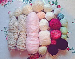 Bag of acrylic yarn - different colours