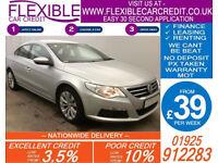 2010 VW PASSAT CC 2.0 TDI CR DSG GOOD / BAD CREDIT CAR FINANCE FROM 34 P/WK