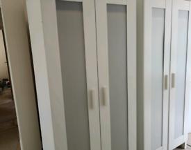 2 Ikea white wardrobes