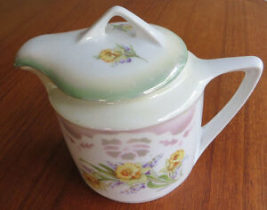 Antique Three Crown China Large Creamer Pitcher, Germany.